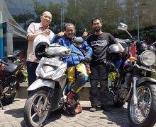 Cuma Pakai Suzuki Address, Biker 70 Tahun Turing 1.300 km Jakarta Lombok