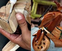Kreatif Banget, Video Cara Membuat Yamaha NMAX dari Kayu, Orang Luar Negeri Sampai Heran