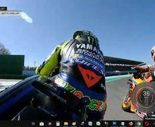 Heboh! Video Detik-detik Rossi dan Marquez Mau Ribut di Akhir Sesi Kualifikasi MotoGP San Marino 2019