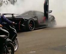 Pemotor Ketakutan, Video Lamborghini Aventador Milik Raffi Ahmad Terbakar, Polisi Ungkap Penyebabnya