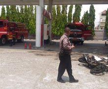 Lampung Mencekam, Sebuah Motor Suzuki Thunder 125 Terbakar di SPBU Sesaat Setelah Isi Bensin