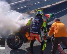 Marshal Langsung Sigap, Video Motor Andrea Iannone Gosong Terbakar Saat Tes Pra Musim MotoGP 2020