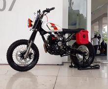 Ganteng Maksimal, Modifikasi Yamaha Scorpio Bergaya Scrambler Pakai Komponen Motor Kawasaki