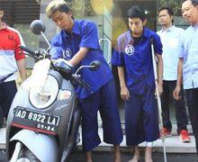 Kaki Maling Motor Berdarah-darah Ditembak Polisi, Pengakuan Pelaku Pakai Hasil Uang Jual Motor Curian Untuk Biaya Sekolah Anak