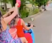 Begini Kelanjutan Nasib Dua Cewek Seksi Mandi Sambil Naik Honda Scoopy yang Bikin Geger, Netizen: Mandi Kok Masih Pakai Baju?