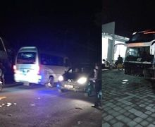 Bali Geger, Bus Malam Alami Kecelakaan Beruntun, Mulai Dari Seruduk Pejalan Kaki, Pemotor, Sampai Motor Parkir