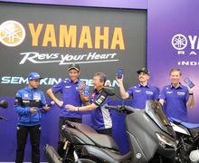 Harga Yamaha All New Nmax 155 Connected/ABS Diumumkan di Depan Valentino Rossi