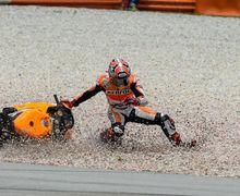 Marc Marquez Kecelakaan di Tes MotoGP Sepang Hingga Bagian Depan Motor Rusak Berat, Begini Kondisinya