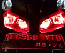 Honda ADV150 Makin Gahar Pasang Paket LED Projie, DRL LED RGB Custom Bisa Diubah 200 mode
