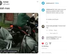 Lagi Nyeberang Jalan Seperti Model Pria Ini Malah Diseruduk Motor, Netizen: Ciuman Beruntun