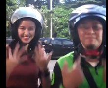 Penumpang Cantik Kompakan Joget Ubur-ubur Bareng Driver Ojol, Netizen: Modus Aja Abangnya Nih