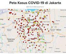 Pengendara Motor Wajib Wapada, Hampir Semua Wilayah Jakarta Terifeksi Corona, Begini Peta Penyebarannya