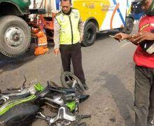 Tabrakan Beruntun Truk Libas Pengendara Yamaha Jupiter Z,  Korban Tewas Mengenaskan