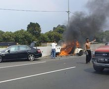 Terlibat Kecelakaan, Wakil Jaksa Agung Tutup Usia, Nissan GT-R Hangus Terbakar, Harganya Setara 54 Yamaha NMAX 155