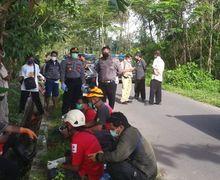 Kecelakaan Tunggal, Pengendara Motor Meninggal di Sawah, Polisi Hubungi Satgas Covid-19 Sleman