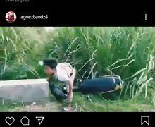 Ambyar Aset Masa Depan, Akibat Pecicilan Bocah Naik Honda Legenda Tabrak Beton Jembatan