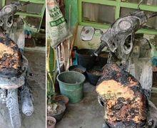 Hati-hati Terbakar Motor Matic Sehabis Servis Dilalap Api di Jogja