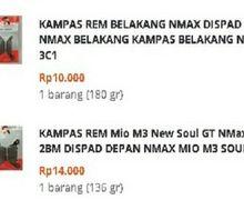 Bikin Curiga Kampas Rem Yamaha NMAX Dijual Rp 10 Ribu di Tokopedia, Kemasannya Mirip Asli