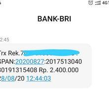 Setelah Dapat SMS Begini Cara Mencairkan Bantuan Rp 2,4 Juta dari Pemerintah di Bank BRI atau Lainnya