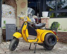 Modifikasi Vespa Exclusive 2 Untuk Touring Pulang Kampung Ke Italia