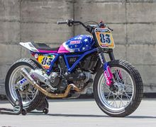 Modifikasi Ducati Scrambler Ala Flat Tracker, Pakai Kelir Bodi Nyentrik
