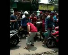 Muka Bonyok dan Berdarah, Pelaku Begal Ditangkap Warga di Bekasi, Nyaris Diseret di Jalan Raya