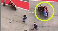 Sadis, Video Pembalap MotoGP Aleix Espargaro Tabrak Seorang Jurnalis Saat MotoGP Malaysia 2019