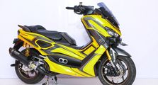 Wuih, Video Yamaha NMAX Paling Canggih di Customaxi X Yamaha Heritage Built 2020 di Bali, Bisa Naik Turun Tanpa Air Suspension