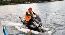 Video Yamaha NMAX Gaspol Di Air Mirip Jetski, Bikin Tercengang