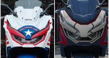 Honda PCX 150 Jadi Pusat Perhatian Pasang Bodi Custom Marvel, Headlamp Lancip Khas Mata Superhero
