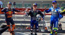 Hasil Balap MotoGP Emilia Romagna 2020, Fransesco Bagnaia Terkapar Maverick Vinales Akhirnya Finis Pertama