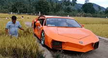Hari Tani Nasional, Petani Asal Aceh Ini Punya Lamborghini, Kok Mesinnya Yamaha V-ixion?