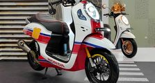 All New Honda Scoopy 2020 Modifikasi Cafe Racer, Kaki-kaki Kekar