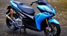 Modifikasi All New Yamaha Aerox 155, Mesin Bore Up Buat Luar Kota