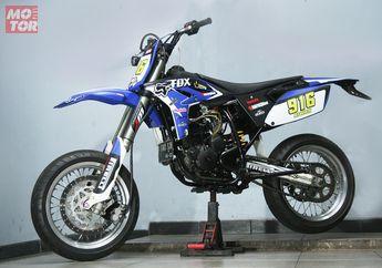 Modifikasi Yamaha Scorpio Berubah Bentuk Jadi Supermoto