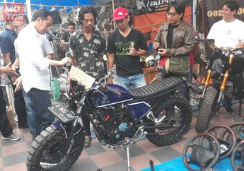 Presiden Jokowi Terpersona Motor Scrambler Busi Kiri Milik Soul Land