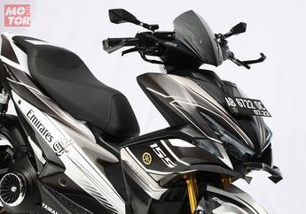 Comot Knalpot KLX, Yamaha Aerox Ini Modifikasinya Terinspirasi dari Maskapai Penerbangan