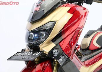 Cari Inspirasi Modifikasi Ala Iron Man? Bisa Tiru Juara Master NMAX Customaxi Makassar Ini