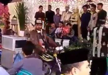 Jalan Ditutup, Pedagang Nekat Terobos Acara Pesta Pernikahan, Tamu pada Melongo