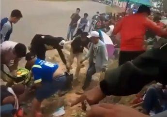 Kejadian Lagi, Balap Road Race Makan Korban, Motor Mendadak Liar Hantam Kerumuman Penonton