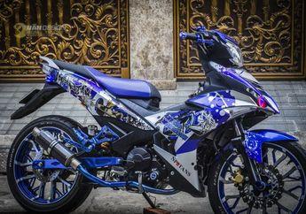 Top Banget, Yamaha MX King Berkaki Kekar, Jadi Perhatian di Lampu Merah