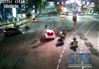 Brutal, Gara-gara Mabok Miras Pemotor Ditabrak di Lampu Merah, Korban Terseret dan Terlindas