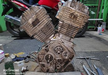 Melongo Lihat Mesin Honda Tiger Jadi V-Twin 421 cc Bro