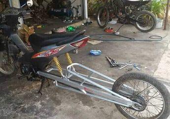Wadaw, Motor Honda Supra Fit Melar Sampai 1,25 Meter, Masuk ke Gang Kelar Hidup Loe!