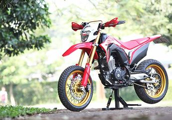 Keren Banget Sih, Honda CRF 150  Jadi Supermoto Ala Aprilia RXV
