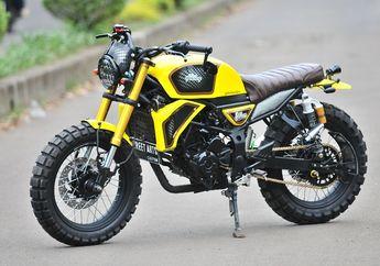 Edan Motor Kawasaki Ninja RR Mono Berubah Total Jadi Scrambler