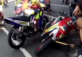 Bojonegoro Membara! Video Balap Motor Berubah Jadi Adu Jotos, Ngeri Coy!