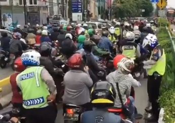 Duh, Ribuan Pengendara Terobos Jalur Transjakarta Terpaksa Ditilang