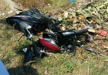 Memilukan, Honda BeAT Hancur Berantakan, Kena Hantam Toyota Avanza
