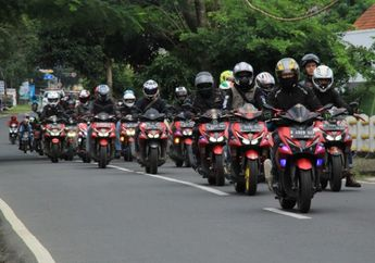 Turing Wajib ke-4 ARCI Jakarta Chapter, Pecah Rekor dengan 103 Motor Yamaha Aerox